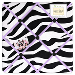 Purple Funky Zebra Fabric Memory/Memo Photo Bulletin Board