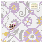 Lavender and White Suzanna Fabric Memory/Memo Photo Bulletin Board by Sweet Jojo Designs