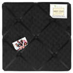 Solid Black Minky Dot Fabric Memory/Memo Photo Bulletin Board by Sweet Jojo Designs