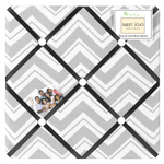 Black and Gray Chevron Zig Zag Fabric Memory/Memo Photo Bulletin Board by Sweet Jojo Designs