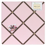 Soho Pink and Brown Fabric Memory/Memo Photo Bulletin Board