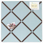 Blue and Brown Hotel Fabric Memory/Memo Photo Bulletin Board