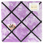 Purple Groovy Peace Out Tie Dye Fabric Memory/Memo Photo Bulletin Board