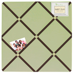 Green and Brown Hotel Fabric Memory/Memo Photo Bulletin Board