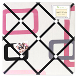 Pink and Black Geo Fabric Memory/Memo Photo Bulletin Board