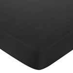 Black and White Princess Fitted Crib Sheet for Baby/Toddler Bedding - Black