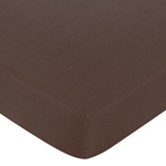 Green and Brown Hotel Fitted Crib Sheet for Baby and Toddler Bedding Sets by Sweet Jojo Designs - Brown