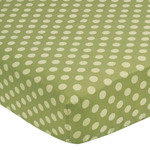 Sea Turtle Fitted Crib Sheet for Baby/Toddler Bedding Sets - Tonal Green Dots