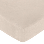 Forest Friends Fitted Crib Sheet for Baby/Toddler Bedding Sets - Buff Microsuede