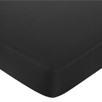 Fitted Crib Sheet for White and Black Hotel Baby/Toddler Bedding by Sweet Jojo Designs - Black