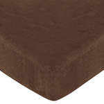 Jungle Time Fitted Crib Sheet for Baby and Toddler Bedding Sets - Brown Microsuede