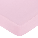 Pink and Chocolate Teddy Bear Fitted Crib Sheet for Baby and Toddler Bedding Sets by Sweet Jojo Designs - Solid Pink