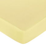 Construction Zone Fitted Crib Sheet for Baby and Toddler Bedding Sets by Sweet Jojo Designs - Solid Yellow