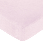 Funky Zebra Fitted Crib Sheet for Baby and Toddler Bedding Sets by Sweet Jojo Designs - Solid Pink Microsuede