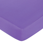 Danielle's Daises Fitted Crib Sheet for Baby and Toddler Bedding Sets by Sweet Jojo Designs - Solid Dark Purple