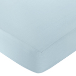 Go Fish Fitted Crib Sheet for Baby and Toddler Bedding Sets by Sweet Jojo Designs - Solid Blue