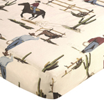 Wild West Cowboy Fitted Crib Sheet for Baby and Toddler Bedding Sets by Sweet Jojo Designs - Cowboy Print