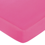 Circles Fitted Crib Sheet for Baby and Toddler Bedding Sets by Sweet Jojo Designs - Solid Hot Pink