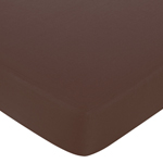 Geo Blue Fitted Crib Sheet for Baby and Toddler Bedding Sets by Sweet Jojo Designs - Solid Chocolate
