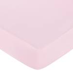 Pink and Brown Hotel Fitted Crib Sheet for Baby and Toddler Bedding Sets by Sweet Jojo Designs - Solid Pink