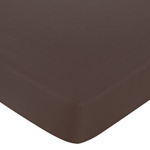 Pink and Brown Hotel Fitted Crib Sheet for Baby and Toddler Bedding Sets by Sweet Jojo Designs - Solid Brown