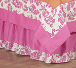 Queen Kids Childrens Bed Skirt for Tropical Hawaiian Bedding Surf Sets