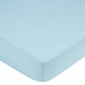 Mod Dots Blue and Brown Fitted Crib Sheet for Baby and Toddler Bedding Sets by Sweet Jojo Designs - Mini Dot