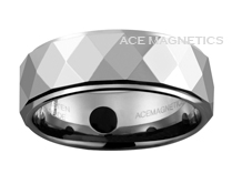 Top Dog Men's Faceted Tungsten Carbide Ring w 4 Permanent Magnets & New for 2014.