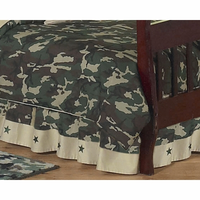 Camo Green Toddler Bed Skirt