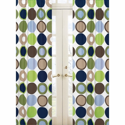 Designer Dot Window Panels - Set of 2