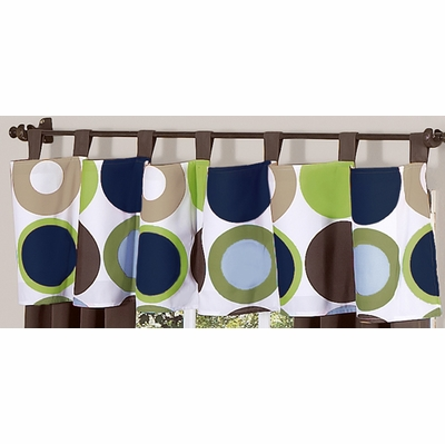 Designer Dot Window Valance