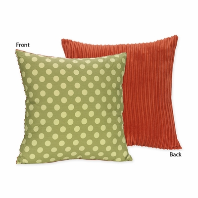 Forest Friends Cotton Tonal Dot Print and Corduroy Decorative Accent Throw Pillow
