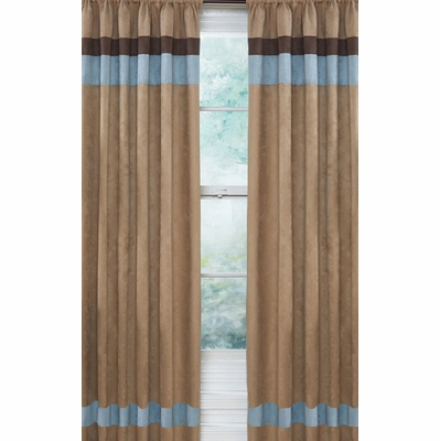 Soho Blue and Brown Window Panels - Set of 2
