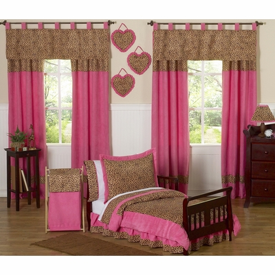 Cheetah Pink Toddler Bedding Collection