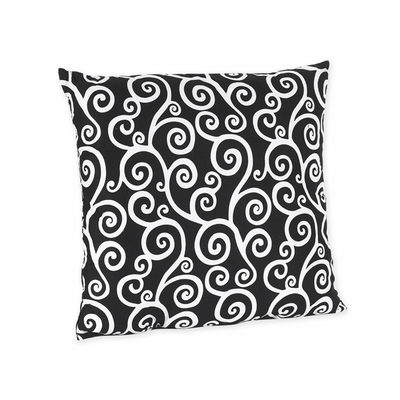 Kaylee Scroll Print Decorative Accent Throw Pillow