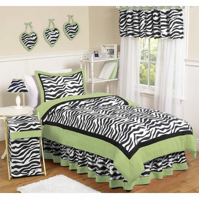 Zebra Lime Twin Bedding Collection