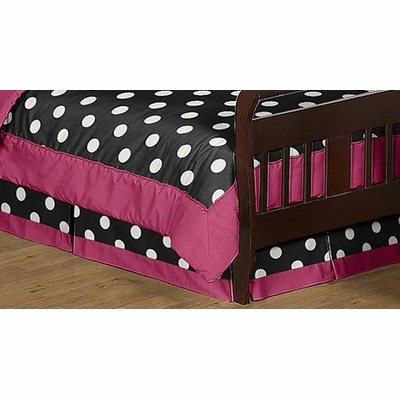 Hot Dot Toddler Bed Skirt