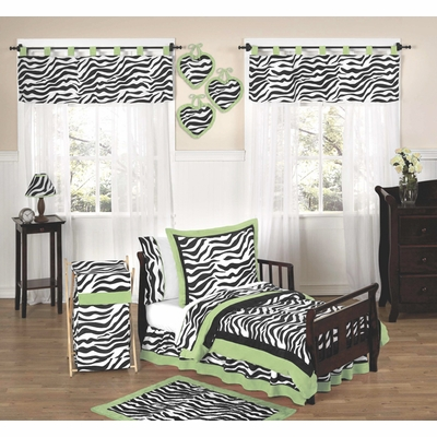 Zebra Lime Toddler Bedding Collection
