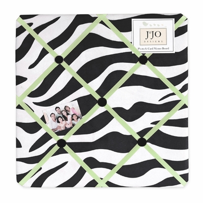 Zebra Lime Fabric Memo Board