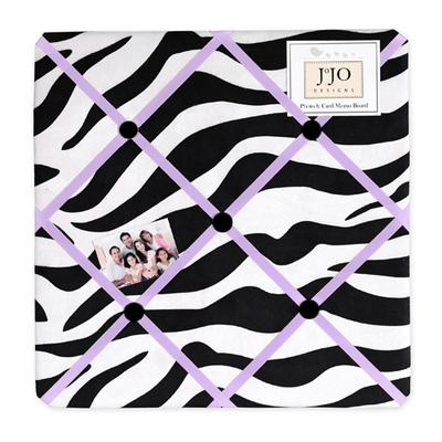 Zebra Purple Fabric Memo Board
