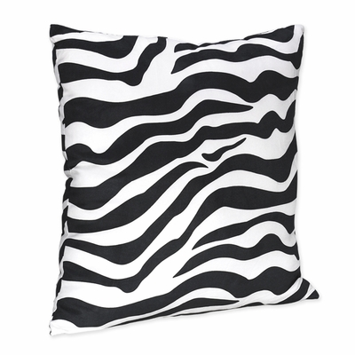 Zebra Purple Decorative Accent Throw Pillow