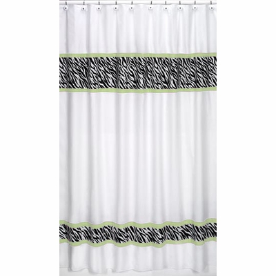Zebra Lime Shower Curtain