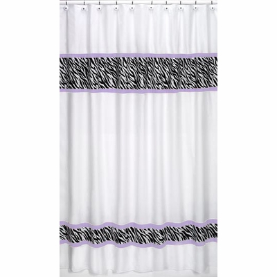 Zebra Purple Shower Curtain