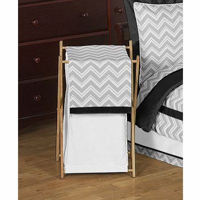 Zig Zag Black and Gray Hamper