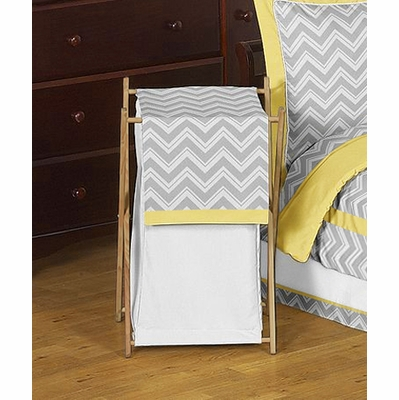 Zig Zag Yellow and Gray Hamper
