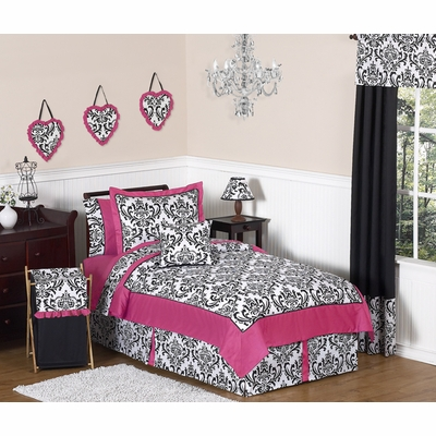 Isabella Pink, Black and White Full/Queen Bedding Collection
