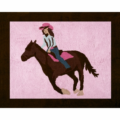Cowgirl Accent Floor Rug