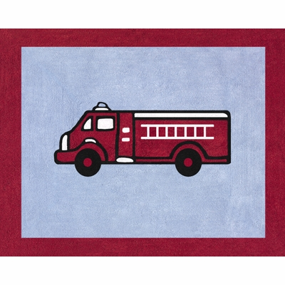 Fire Truck Accent Floor Rug