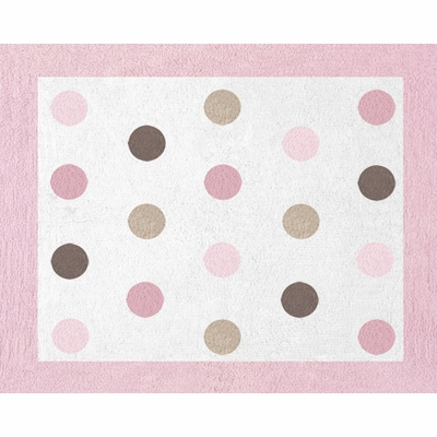 Mod Dots Pink Accent Floor Rug