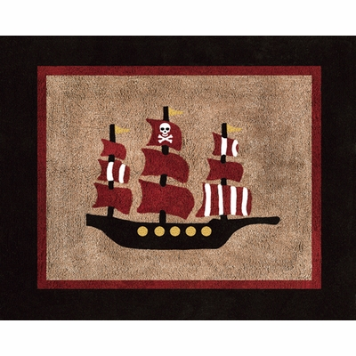Pirate Treasure Cove Accent Floor Rug